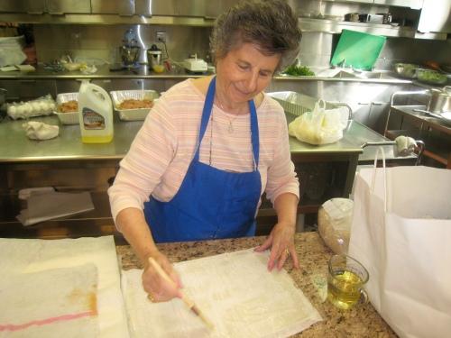 Kaye Israel making Baklava